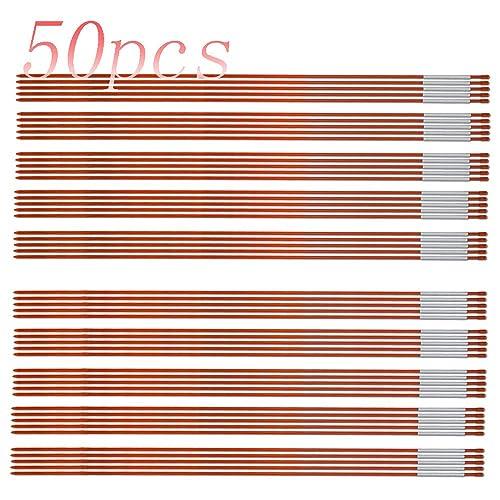 Orange 1//4 inch Pack of 10 Walkway Stakes 48 inches long Fiberglass