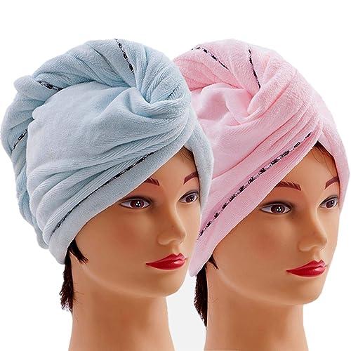 Anti-frizz Head Turban Long Thick /& Curly Hair Microfiber Hair Towel Drying Wrap