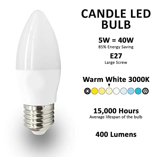 Megaman 5.5W LED Candle lamp 40 watt low energy replacement bulb cool white 40W