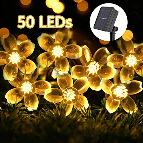 50 100 200 LED Solar Light String Fairy Outdoor Light Garden Party Xmas Wedding