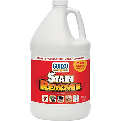 Gonzo Carpet Stain Remover 1 Gallon Natural Magic Super Strength Commercial Enzyme Cleaner For Pet Stains Removes Pet Urine Non Toxic Carpet Stain