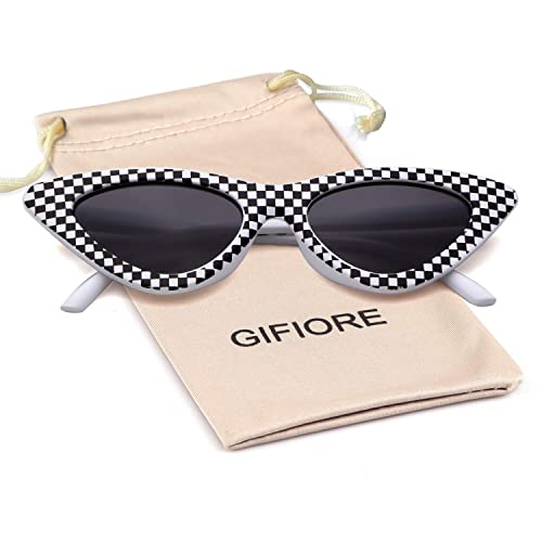 caca573a8d75 Buy Gifiore Retro Vintage Cateye Sunglasses for Women Clout Goggles Plastic  Frame Glasses with Ubuy Kuwait. B07L3VSWYB