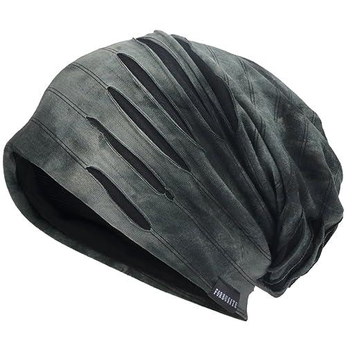 Men Slouch Hollow Beanie Thin Summer Cap Skullcap Retro-Navy