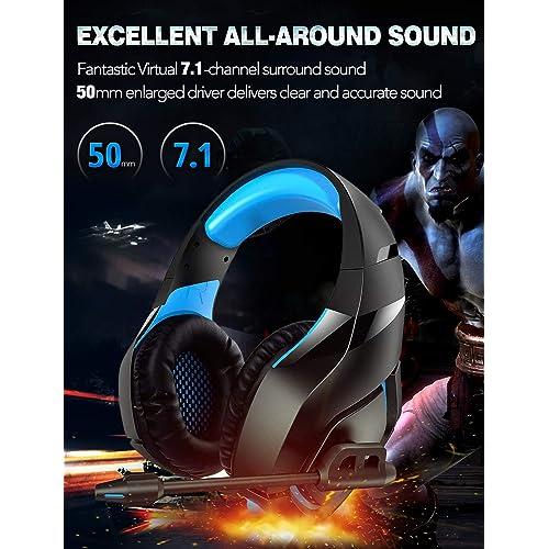 Buy RUNMUS Gaming Headset PS4 Headset with 7 1 Surround