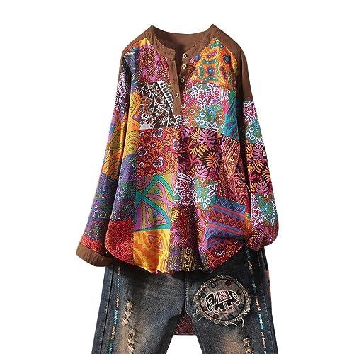 HomeMals Womens V-Neck Button Down Sweater Blouse Knitwear Long Sleeve Shirt Tops