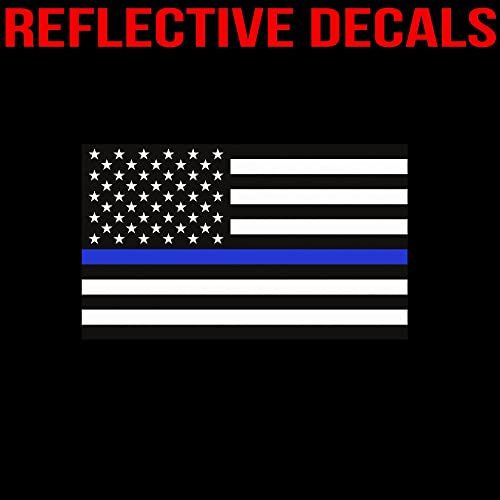 10 pk Distressed Tattered American Flag Police Thin Blue Line decal sticker BLM