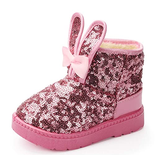 YIBLBOX Baby Infant Soft Sole Anti-Slip Ankle Snow Boots Toddler Winter Warm Booties
