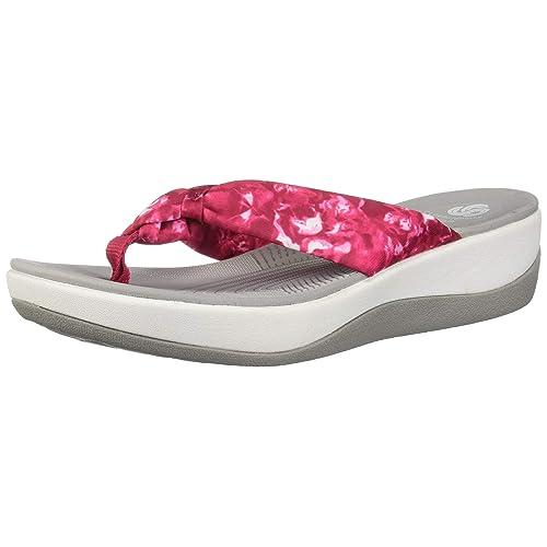 Clarks Arla Glison Black Textile W//Grey Dots Womens Flip-Flop Size 9M