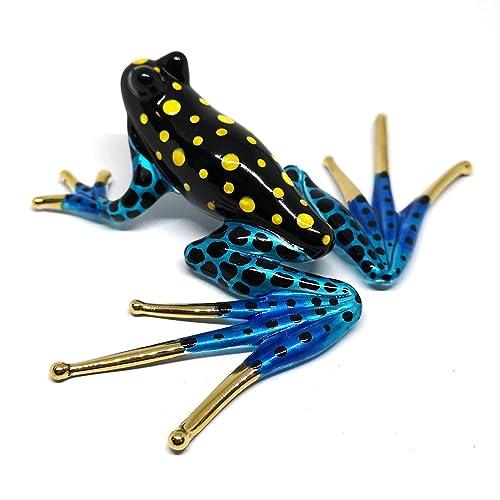 Cute Frog Hand Blown Glass Figurine Collectibles Miniature Animal Art Decor Gift