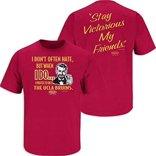 Anti- Michigan Red T-Shirt Smack Apparel Ohio State Football Fans Stay Victorious I Dont Often Hate Sm-5X
