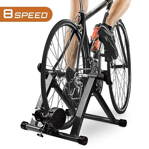 RockBros Roller Trainer Road Bike Magnetic Resistor Foldabe Trainer 8 Speed Blue