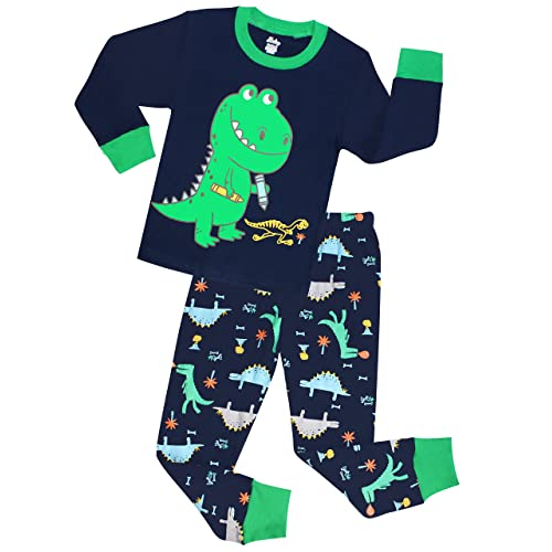 12M-7Years AMGLISE Kids Little Boys Tyrannosaurus Rex Short Pajamas 2 Piece Set 100/% Cotton Dinosaur Sleepwear Black