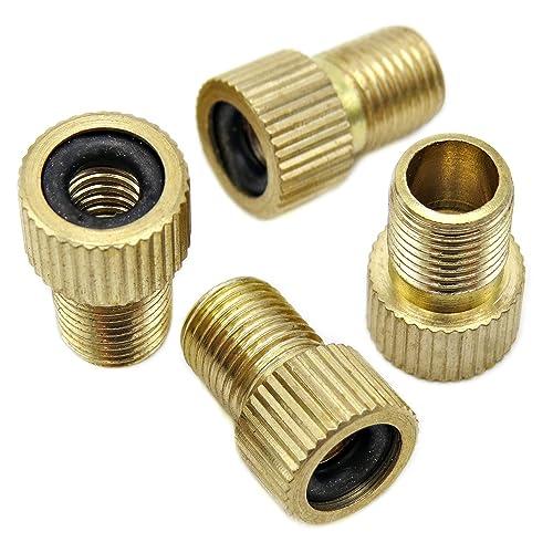Brass Presta and Schrader Valve Adapter Kit Converter Bike Pump//Air Compressor