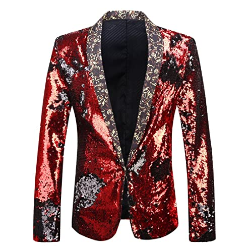 Men Wedding Blazer Suit Jacket Sequin Stylish Solid Suit Blazer Business Party Outwear Jacket Tops Blouse Goosun Formal Dinner Jacket Coat Suit
