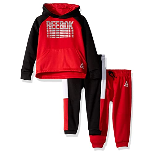f54889b3e7 Buy Reebok Boys' Toddler 3 Piece Spun Poly Fleece Hoody Pullover and Jog  Pants with Ubuy Kuwait. B07GTKVWSV