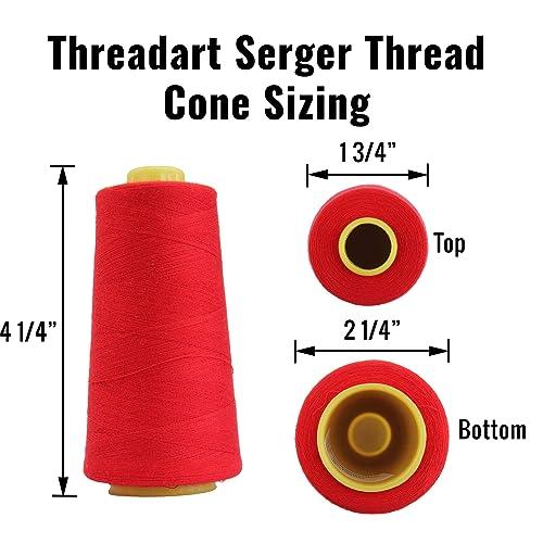 Threadart Polyester Serger Thread 2750 yds 40//2 Lemon 56 Colors Available