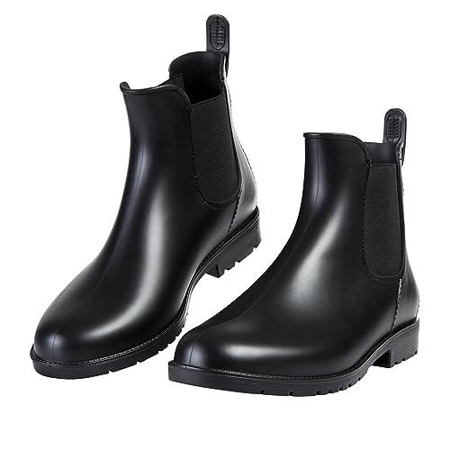 8e0c558c3884d Buy Asgard Women's Short Rain Boots Waterproof Slip On Ankle Chelsea  Booties with Ubuy Kuwait. B07F1RB94V