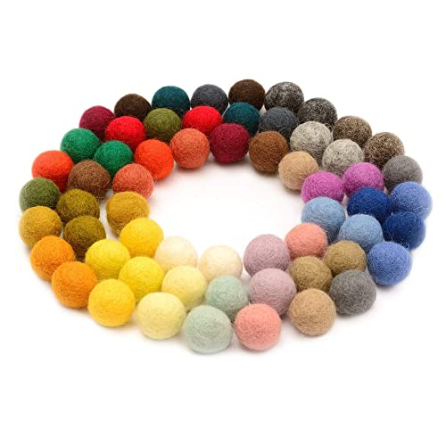 Wool Balls 2 cm /& 2.5 cm Handmade Felted 40 Color ,Bulk Small Puff for Felting /&Garland Glaciart One Felt Pom Poms 3 Sizes: 1.5 cm Red, Pink, Blue, Orange, Yellow, White, Pastel /& More 120 Pcs