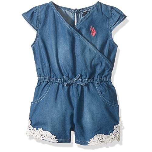 Girls Toddler 3 Piece Tunic Polo Assn Jersey Tank U.S and Pull-on Short Set