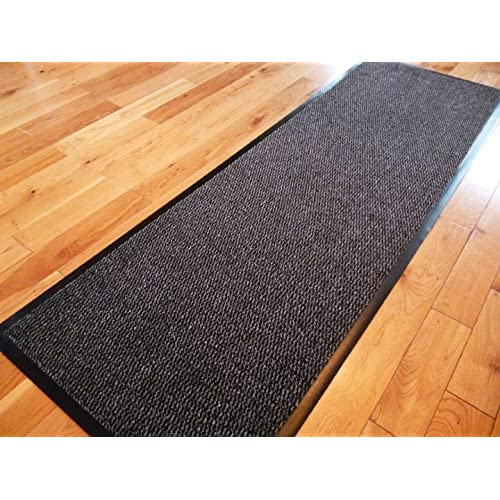 Heavy Duty Non Slip Rubber Barrier Mat Rugs Back Door Hall Kitchen Red 80x120cm