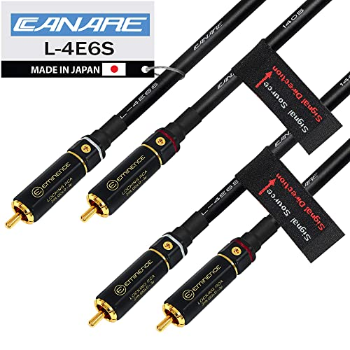 White//Red Stereo Pair Canare Balanced XLR Audio Interconnect Cables 5m