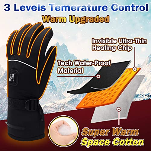 Mens Heat control super thermal insulated gloves,
