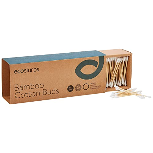 500, White Zero Waste Bamboo Cotton Buds From EcoSlurps Plastic Free One Tree Planted With Every Sale Medical Qtips /& Earbuds 500 Organic Compostable Wooden Makeup Swabs UK Company