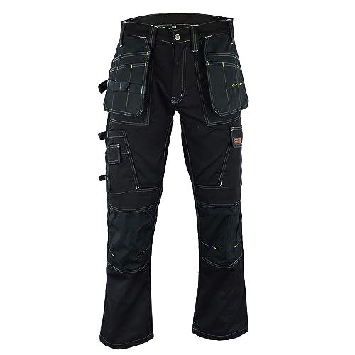 Men Work Cargo Trouser Khaki /& Black Pro Heavy Duty Multi Pockets W:42 L:29