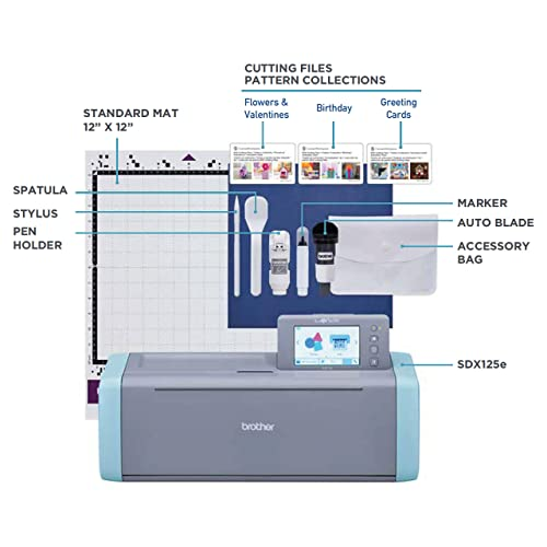 Brother Sdx125e Cutting Machine Scanner Grey And Blue Buy Products Online With Ubuy Kuwait In Affordable Prices B07qrb25t4