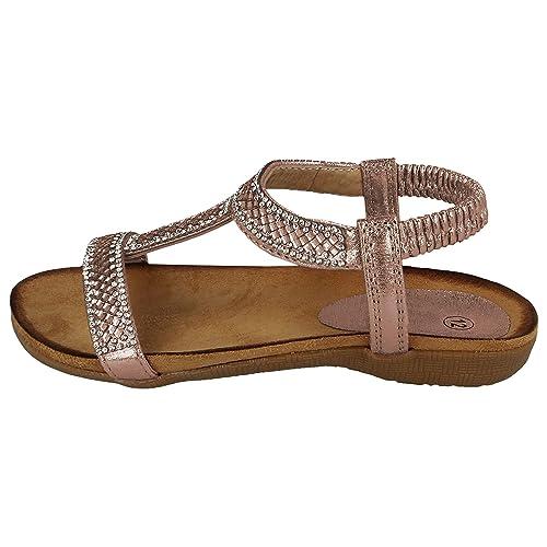 Chatterbox Girls Sandals Gladiator Glitter Sparkle Slider Cross StrapBuckle Shoe