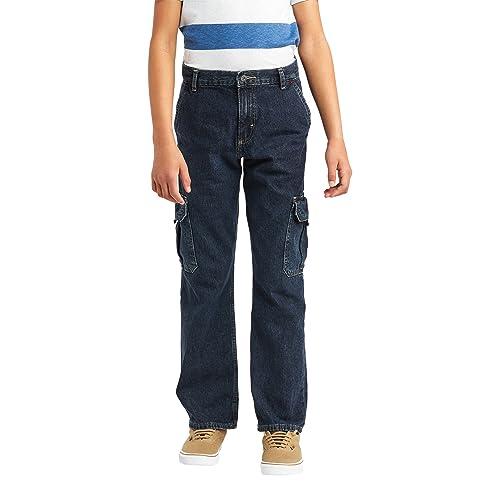 Wrangler Authentics Boys Classic Cargo Pants Desert Camo 14 Regular