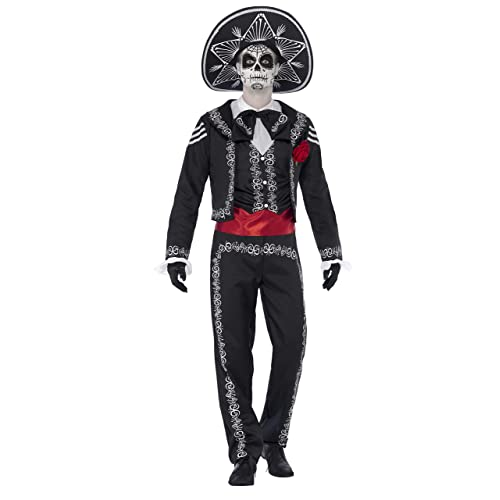 Adult Men/'s Day of the Dead Tailcoat Halloween Fancy Dress Jacket Only by AMSCAN