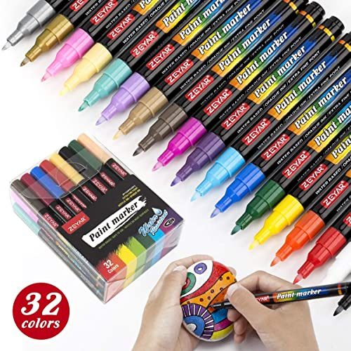 Buy Zeyar Acrylic Paint Pens Water Based Extra Fine Point