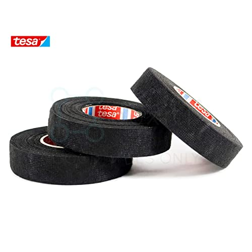 Black High Temp Fuzzy Fleece Interior Wire Loom Harness Tape for Auto 19mm X 15m Pack of 5