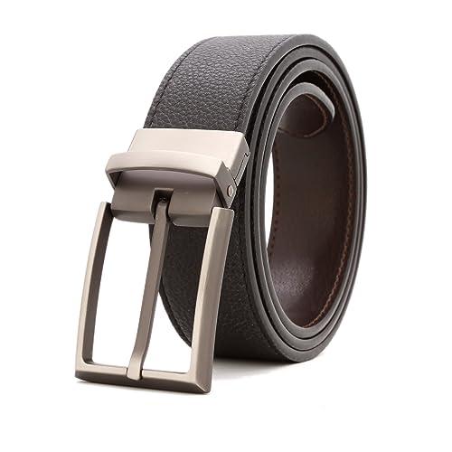Big /& Tall Retro brass buckle Mens Belt 100/% Genuine Leather Casual Belt S-6XL