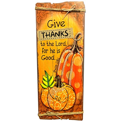 Buy Hobby Lobby Wooden Give Thanks Wall Decor Fall Autumn Wall Sign Religious Plaque For Thanksgiving With Jute Hanger 23 5 X 9 25 Inches Online In Kuwait B08dn2xrkz