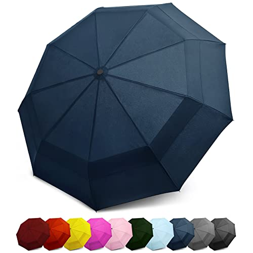 456ec8f2a2a3 Buy EEZ-Y Double Canopy Wind Resistant Travel Umbrella - Auto Open ...
