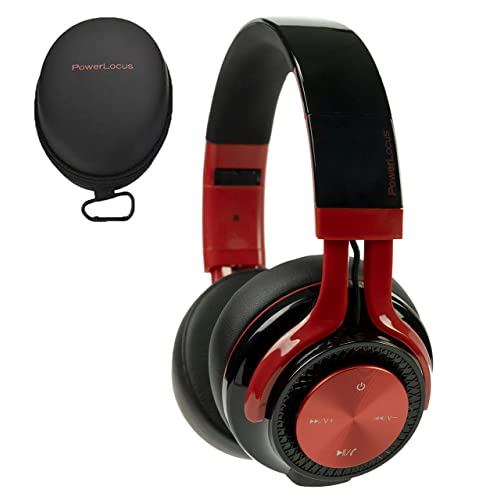 Buy Powerlocus P3 Bluetooth Headphones Over Ear 26h Playtime Bluetooth 5 0 Wireless Hi Fi Stereo Headphone Foldable With Mic Deep Bass Wired Mode For Cell Phones Laptop Pc Tv Black Red With Ubuy Kuwait B07r6t992j