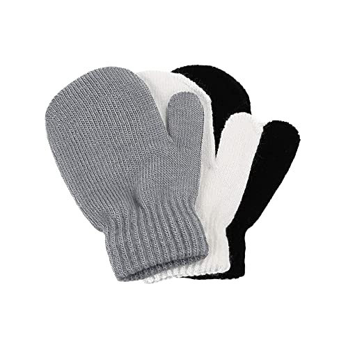 12 Pairs Toddler Baby Stretch Magic Full Finger Mittens Winter Knitted Gloves