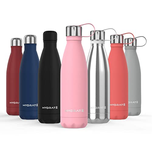 BPA Free HYDRATE Super Insulated Stainless Steel Water Bottle 24 Hours Cold /& 12 Hours Hot Vacuum Flask