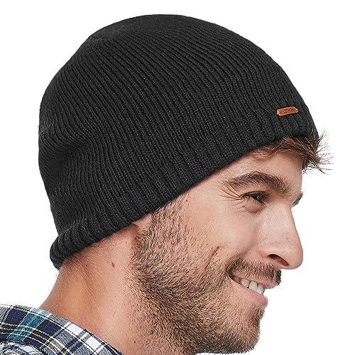 ff03d81bcdde3 Buy LETHMIK Fleece Lined Beanie Hat Mens Winter Solid Color Warm Knit Ski  Skull Cap with Ubuy Kuwait. B075GJPY33