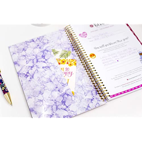 bloom daily planners 2020 Calendar Year Day Planner Weekly//Monthly Agenda Organizer Book with Tabs /& Flexible Soft Cover January 2020 - December 2020 Purple Agate - 6 x 8.25