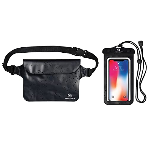 Best Way to Keep Your Phone and Valuables Safe and Dry Perfect for Boating Swimming Snorkeling Kayaking Beach Pool Water Parks Waterproof Pouch with Waist Strap