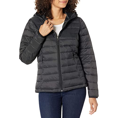 Essentials Womens Water-Resistant Long-Sleeve Parka with Faux Fur Trimmed Hood