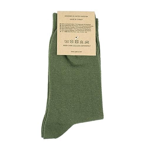 CHAPS~Sock 10-13~Men/'s Green Combed Cotton Crew Socks
