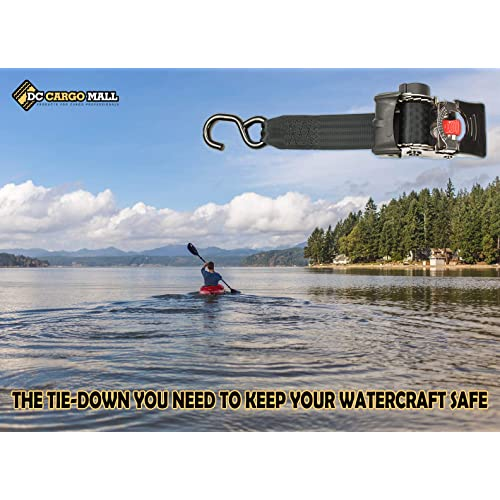 Quick n Easy AutoRetract Strap Transom Tie DownsStainless Steel...