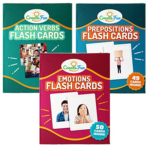 CreateFun Prepositions Flash Cards49 Language Development Educational Photo