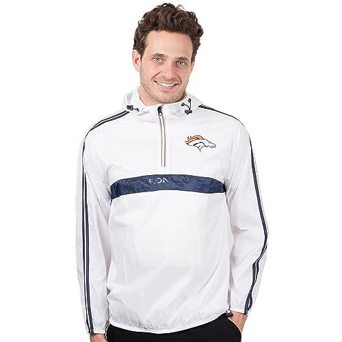 Ultra Game NFL Mens Quarter Zip Hoodie Windbreaker Jacket
