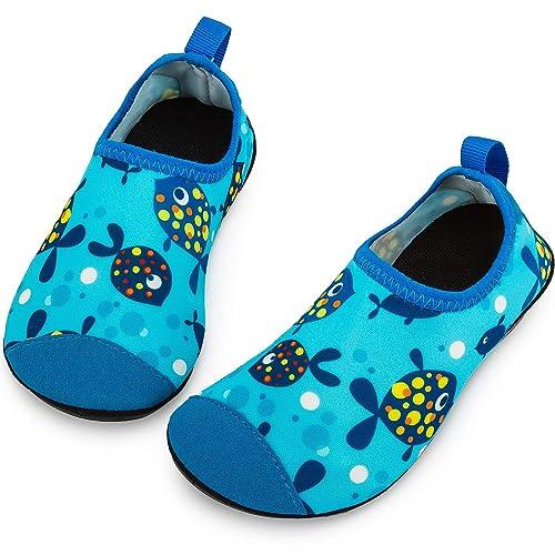 Kids Water Sports Shoes Barefoot Quick-Dry Aqua Socks Slip-on for Boys Girls Toddler