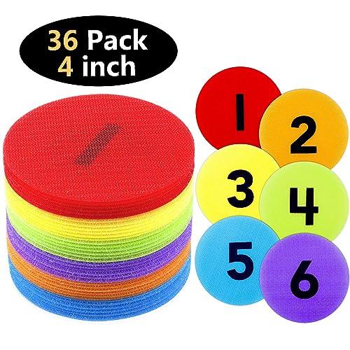 6Colors DaricowathX 60 Pack Spot Markers Floor Spots 4 Inch Carpet Markers Sitting Spots for Classroom Preschool and Kindergarten